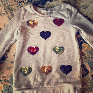Carter's KID 6/6x Sequin Heart Sweater